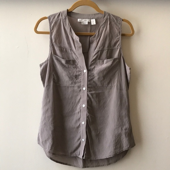 e78d83c1f18bf Max Studio silk high-low sleeveless blouse